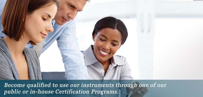 Psychometric Instrument certification programs