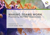 Making Teams Work: Powered by the FIRO Assessment Workshop Facilitation Kit