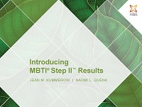 Introducing MBTI Step II Results Workshop Facilitation Kit
